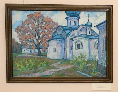 Выставка «Великий Новгород в произведениях новгородских художников» открылась в Антониевом монастыре