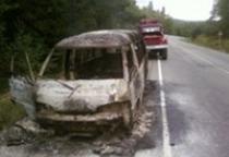 В Холме горел автомобиль