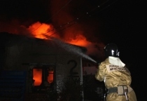 Бытовка горела в Батецком районе