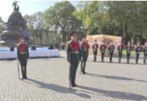«53 секунды»: показательное выступление Роты Почетного караула Западного военного округа
