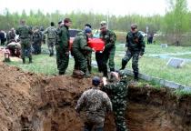 В Холмском районе прошло перезахоронение воинов, погибших во время Великой Отечественной войны