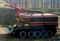 Новый роботизированный «пожарный танк» продемонстрирует свои возможности на учениях в Новгородской области