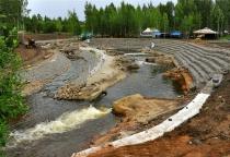 Губернатор Сергей Митин побывал в строящемся Центре гребного слалома в Окуловке