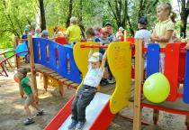 В детском садике в Великом Новгороде установили игровой комплекс за счет благотворителя