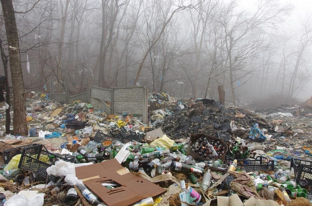 Жители Малой Вишеры создали свалку рядом с воинским захоронением