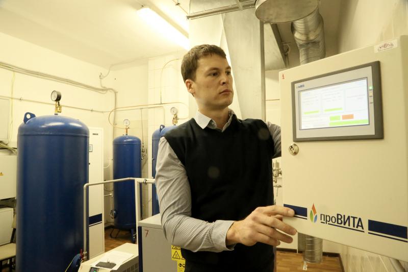 Новгородская клиника стала производить кислород для своих нужд
