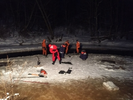 Обнаружено тело шестилетнего мальчика, провалившегося под лёд  в Старорусском районе