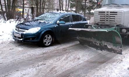 В ночь с 18 на 19 января мэрия Великого Новгорода просит убрать авто с улицы Свободы