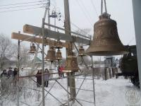 В Старорусском районе освятили колокола для новой церкви