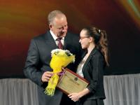 Сергей Митин вручил на новогоднем приеме премию молодым дарованиям