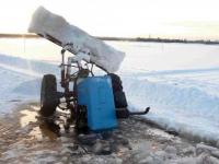 В Валдайском районе 66-летний рыбак на тракторе провалился под лёд