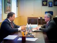 Андрей Никитин встретился с мэром Великого Новгорода Юрием Бобрышевым