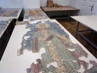 Фрески церкви Спаса Преображения на Ковалеве перевезены в новые мастерские в Антонове