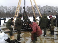 Из реки Ловать в Новгородской области поднят истребитель, упавший в 1942 году