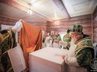 В новгородской деревне освящен новый храм во имя преподобного Ксенофонта Робейского