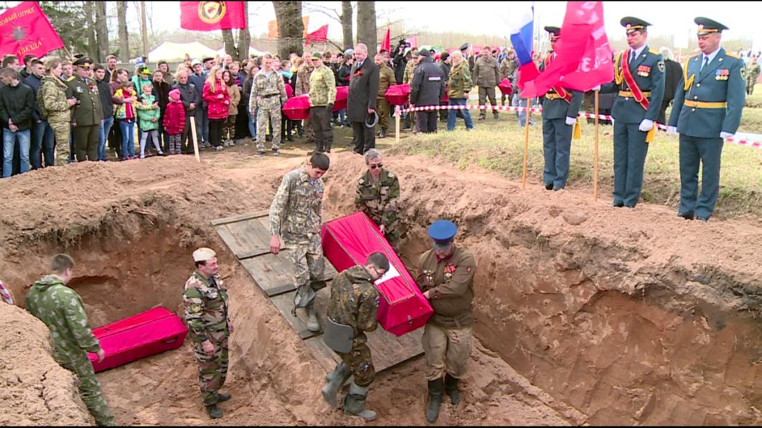 ВНовгородской области поисковики отыскали останки советского бойца изКурской области