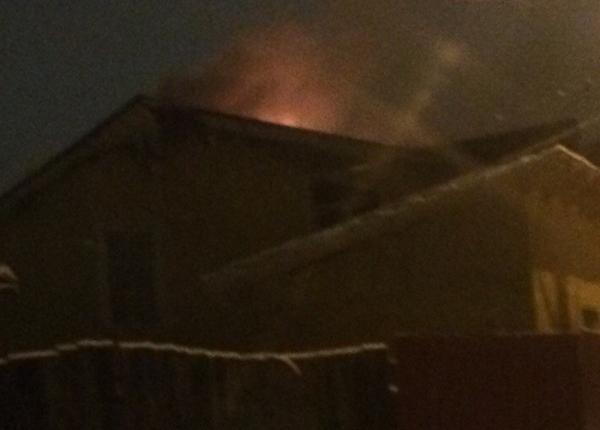 Прошедшей ночью пожар охватил дом наСпортивном переулке