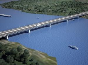 Строительство третьего моста в Великом Новгороде идет в соответствии с графиком