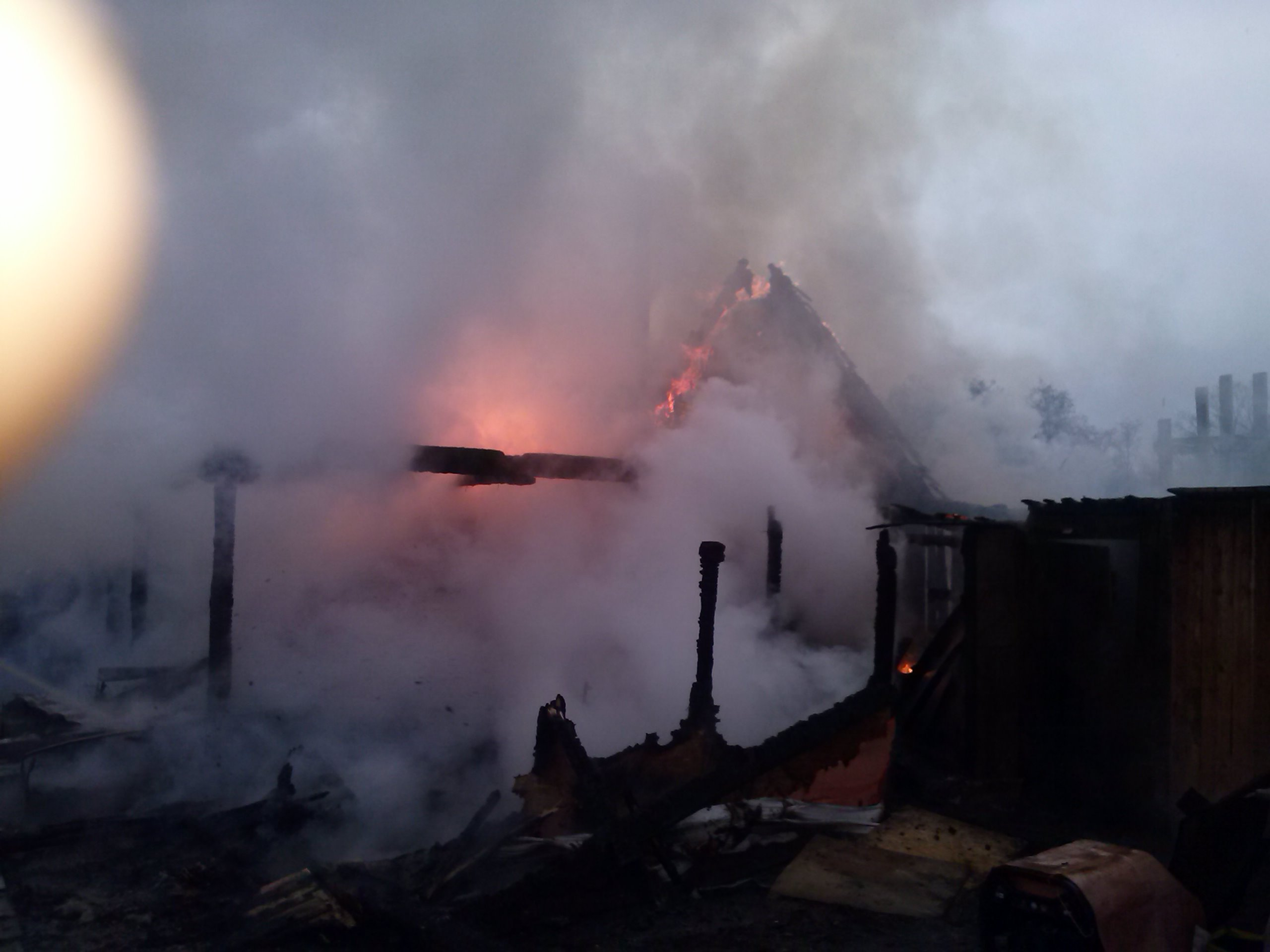 Над Маревским районом стоит марево от пожаров