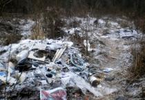 В Мареве появляются несанкционированные мусорные свалки