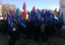Новгородцы поддержали жителей Крыма на митинге