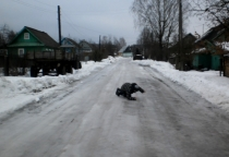 В Мареве заледенели дороги