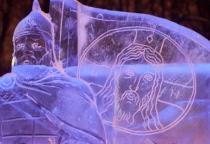 Фоторепортаж: фестиваль Ледяных Скульптур в Великом Новгороде
