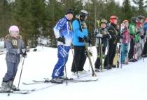 В Любытинском районе прошли спортивные соревнования по горнолыжному спорту и сноуборду