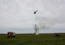 В Солецком районе спасатели ликвидировали «лесной пожар», угрожавший населённому пункту