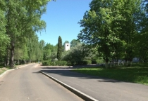 Парк у Антониева монастыря стал популярным местом прогулок новгородцев