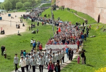 Фоторепортаж: празднование 70-летия Победы в Великом Новгороде