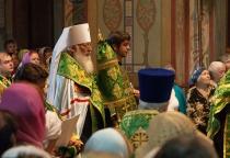 В новгородском Софийском соборе состоялся молебен в память Сергия Радонежского и концерт «Академии православной музыки»