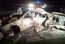 ДТП в Крестецком районе: иномарка сгорела после лобового столкновения