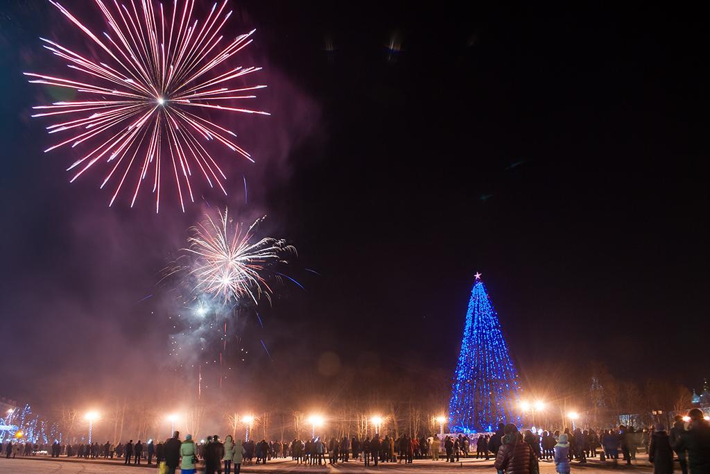 Великий Новгород встретил 2016 год