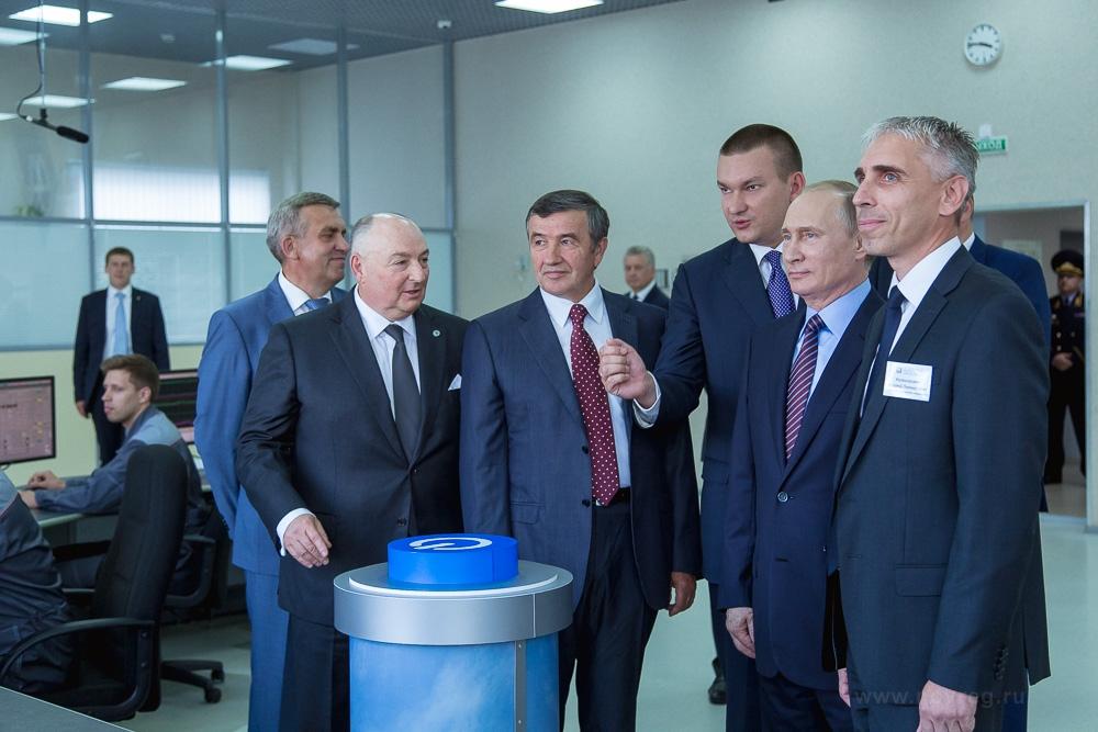Владимир Путин принял участие в запуске нового проекта «Аммиак-4»  в Великом Новгороде