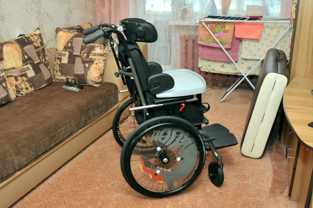 Мальчик-инвалид из Крестецкого района получил универсальное кресло-коляску стоимостью 278 тыс. рублей