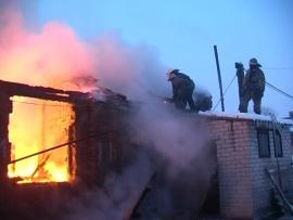 На пожаре в Пестовском районе погиб человек. Личность устанавливается