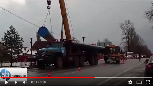 Видео: как устраняют последствия аварии в деревне Бронницы