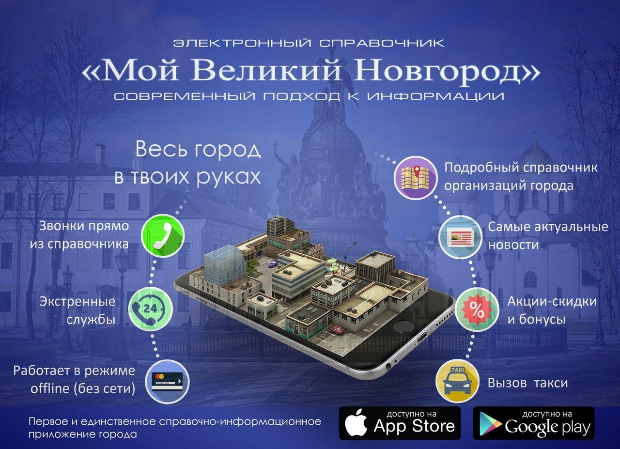 Выпущено долгожданное городское мобильное приложение – «Мой Великий Новгород (Мой город)»