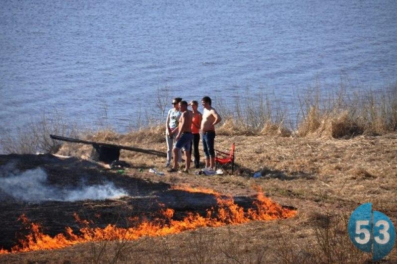 Поджог сухой травы может обойтись новгородцам в кругленькую сумму
