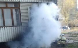 Устанавливаются причины возгорания электроподстанции в Великом Новгороде