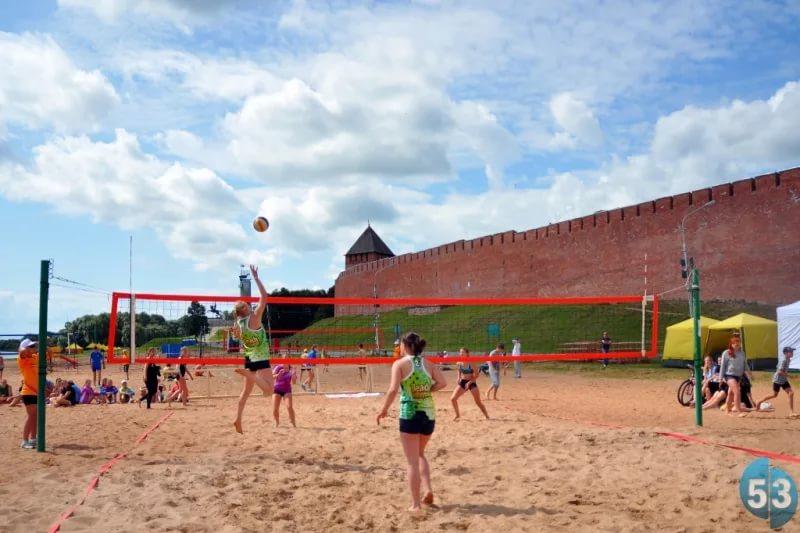 Кремлевский пляж примет волейболистов Новгородской области