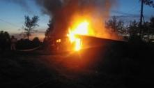 В Крестецком районе частный жилой дом пострадал от огня