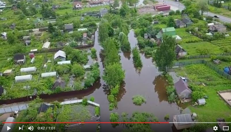 Видео: как затопило Новую Мельницу