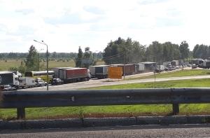 Информация о пробках на проблемном участке трассы М-10
