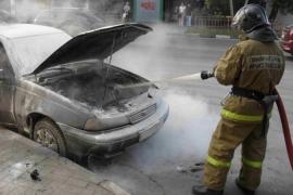 В Мошенском районе сгорел автомобиль