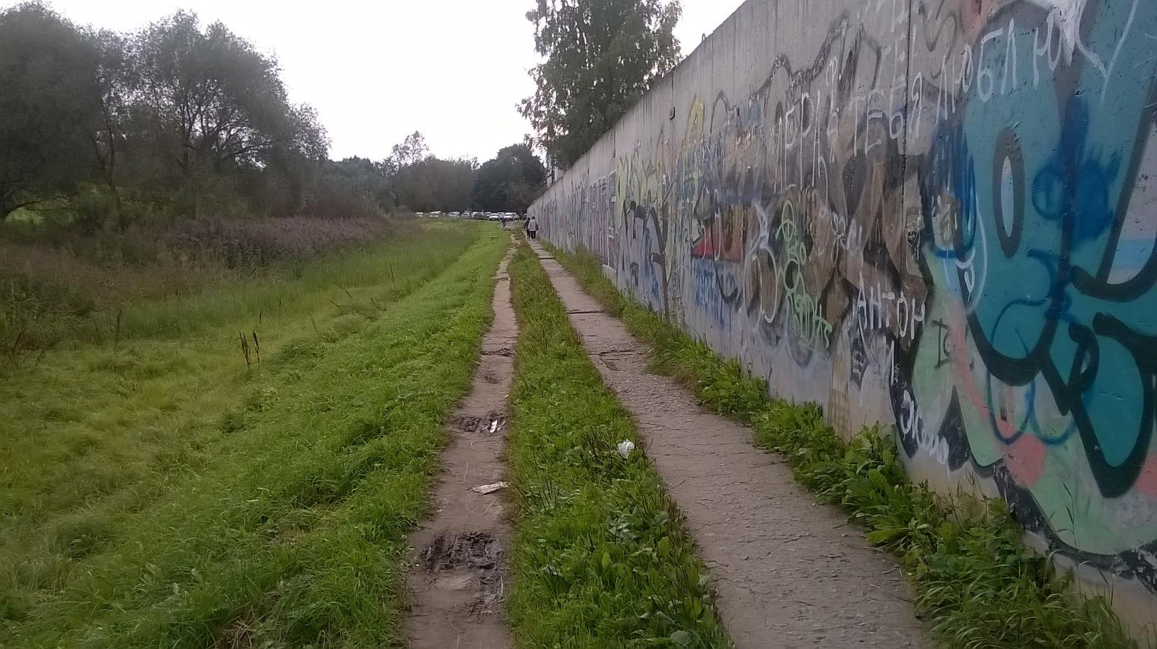 В Великом Новгороде может появиться тротуар вместо разбитой тропинки от улицы Новолучанской