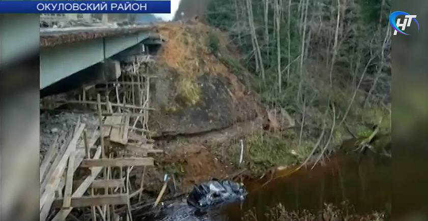 Видео: аварийный мост в Окуловском районе