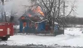 В Новгородской области огонь уничтожил фельдшерско-акушерский пункт