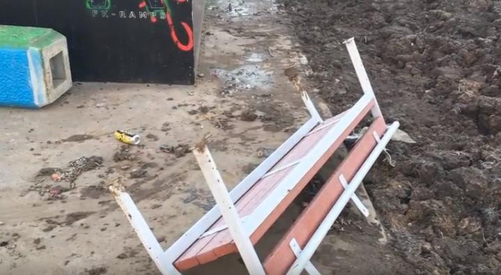 Скейт-площадка в парке Юности разрушена – ее атаковали вандалы?